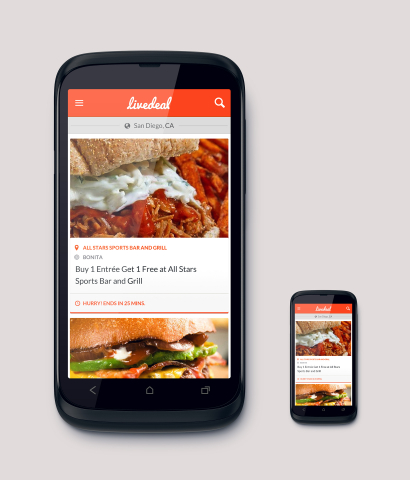 LiveDeal.com is the world's first deal engine... a real-time, online marketplace that connects consumers with local restaurants that are offering deals right now. (Graphic: Business Wire)