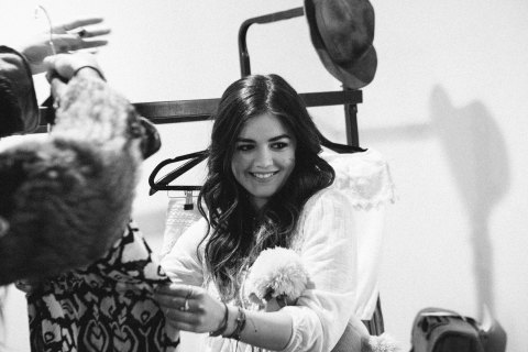 "Behind-the-scenes at Lucy Hale's American Rag ""ALL ACCESS"" campaign. (Photo: Business Wire)"