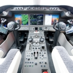 Rockwell Collins' Pro Line Fusion(R) for the Bombardier Learjet 85 features the industry's largest LCD displays in a three-display configuration with