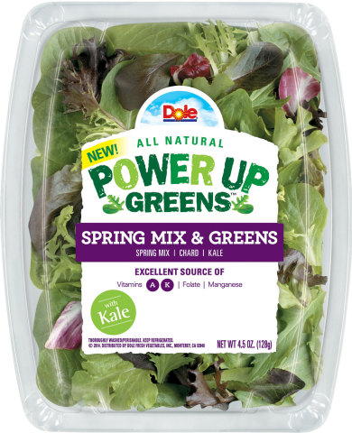 Power-packed taste and nutrition come together in new DOLE® Power Up Greens Line™. (AP Photo/Dole Fresh Vegetables)