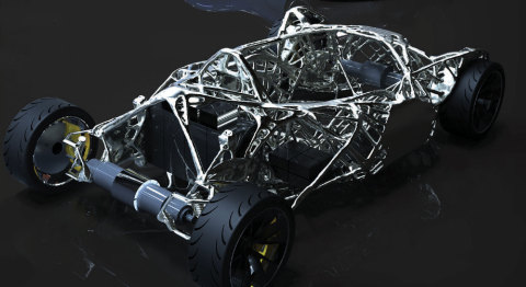 First place in the Arts and Architecture category is Xiphias Concept Chassis submitted by Wallace (Penn) Scott from Lehigh University in McLean, Va. (Photo: Business Wire)