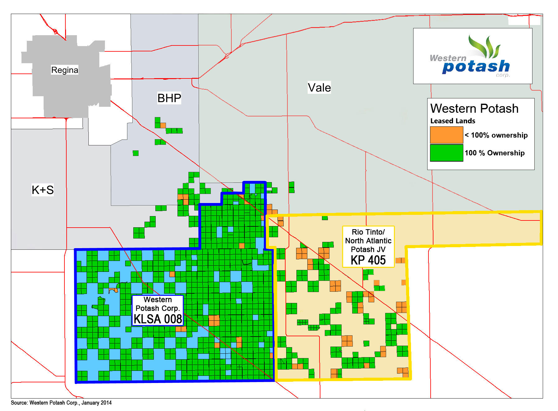 Source: Western Potash Corp., January 2014
