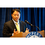 NCPERS Executive Director and Counsel Hank Kim, Esq. announcing the Secure Choice Pension proposal at a news conference in Washington, DC (Photo: Business Wire)