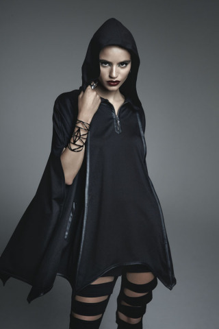 """Maleficent Bat Wing Hooded Cape: a part of a limited-edition collection of apparel inspired by Disney's """"Maleficent"""" - created by and available exclusively at Hot Topic. (Photo: Business Wire)"""