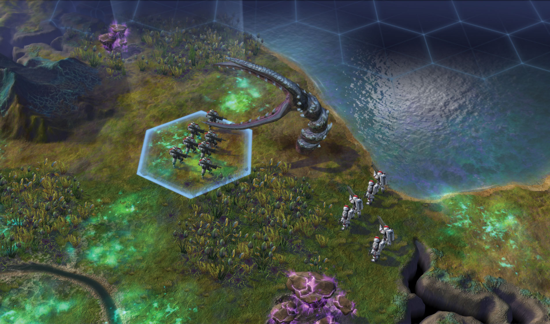 The Siege Worm, one of the new alien creatures found in Sid Meier's Civilization: Beyond Earth (Photo: Business Wire)