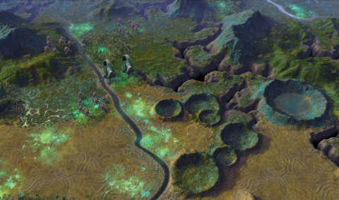 A view of the alien planet found in Sid Meier's Civilization: Beyond Earth (Photo: Business Wire)