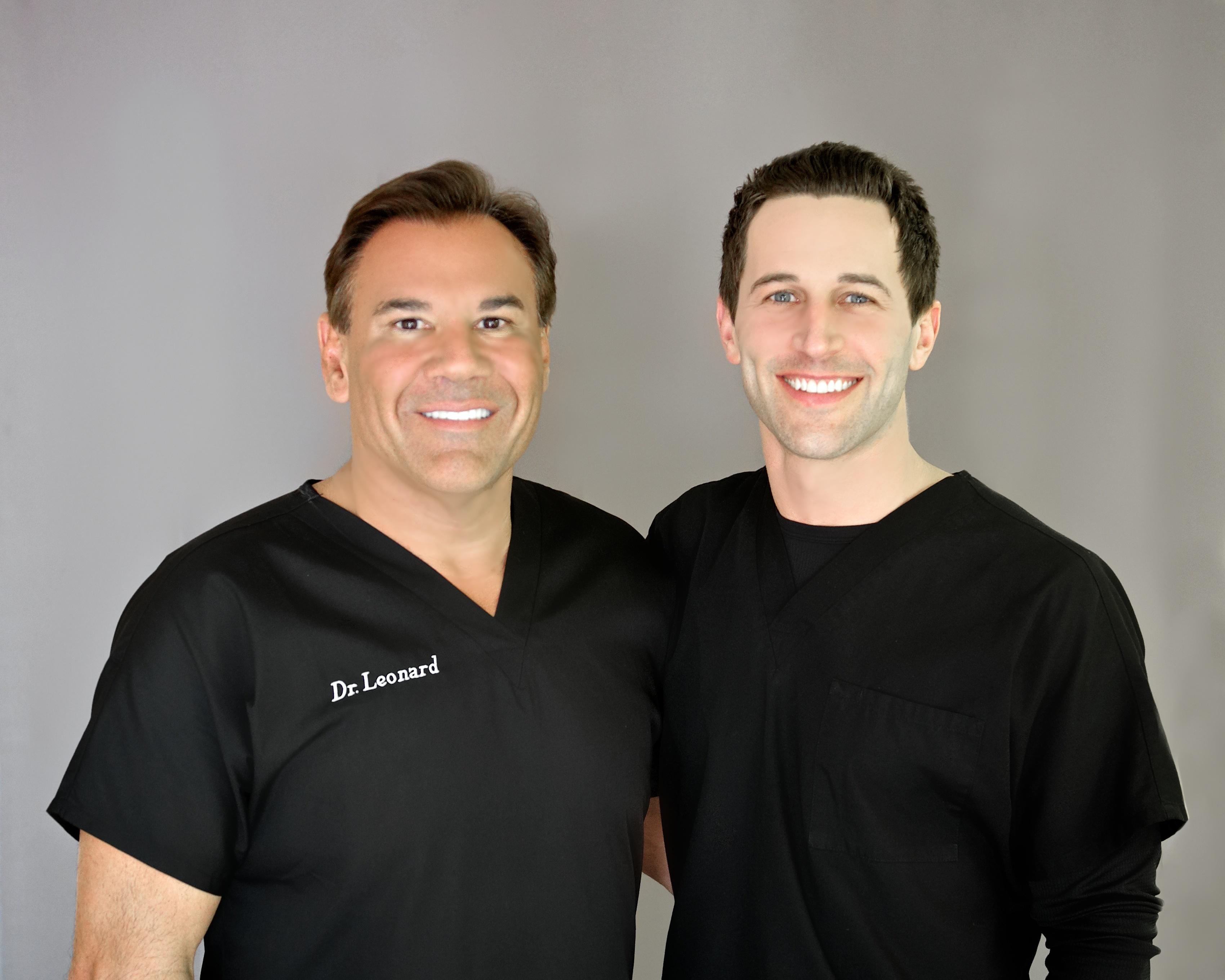 Dr. Robert Leonard welcomes Dr. Matthew Lopresti to Leonard Hair Transplant Associates. (Photo: Business Wire)