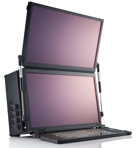 "MegaPAC with dual vertical 24"" monitors (Photo: Business Wire)"