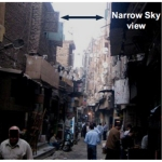 A dim street in a dense urban area in Egypt, in which the light-directing panel could be deployed. (Photo: Business Wire)