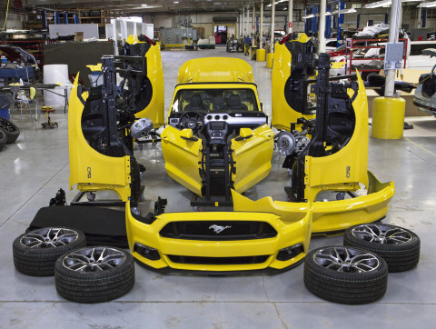 Six weeks of preparation needed to bring Triple Yellow 2015 Mustang convertible to the top of the Empire State Building. (Photo: Business Wire)