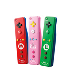 The new Peach Pink Wii Remote Plus will start appearing in stores in late April at a suggested retail price of $39.99. It joins other controllers themed to Nintendo characters, including the red Mario and green Luigi controllers. (Photo: Business Wire)