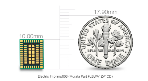 Electric Imp imp003 Murata Internet connectivity module. (Photo: Business Wire)