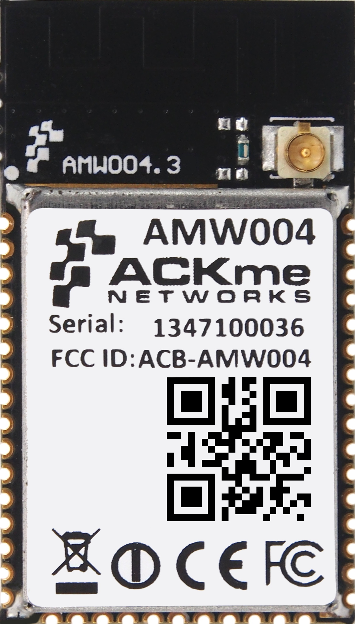 """ACKme's AMW004 """"Wallaby"""" 802.11 b/g/n Wi-Fi Module. (Photo: Business Wire)"""