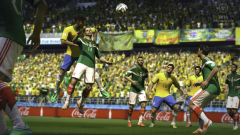 Over the back header in EA SPORTS 2014 FIFA World Cup Brazil (Graphic: Business Wire)