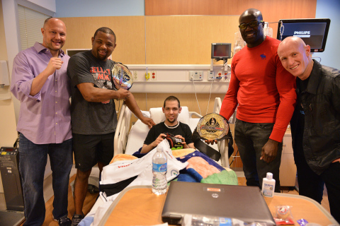 Bamboo Nutra and Bellator MMA visit Children's Hospital Of Orange County (Photo: Business Wire)