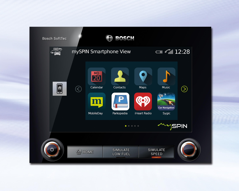 Bosch mySPIN Smartphone Integration Solution Featured on Jaguar and
