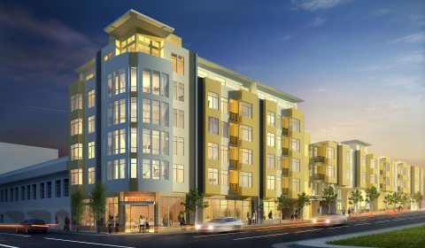 Rendering of KB Home's proposed 81-unit mid-rise at 2655 Bush Street in San Francisco. (Graphic: Business Wire)