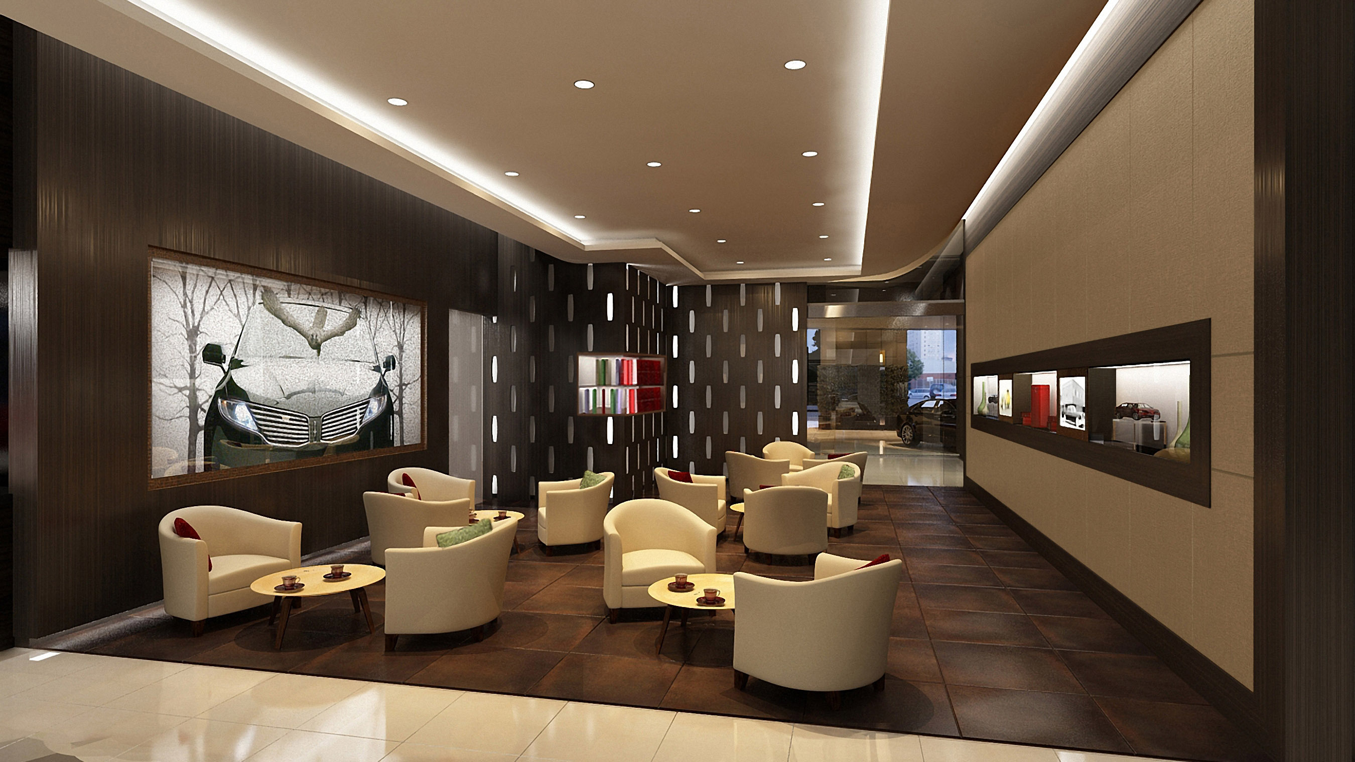 The tea room is part of the personally crafted experience created by Lincoln dealerships in China. The overall effect is a warm, inviting environment that customers associate with the living room of a home or a five-star hotel lobby. (Photo: Business Wire)