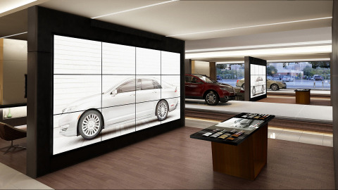 In every Lincoln dealership throughout China, the Personalization Studio will allow customers to visually explore the entire array of models, colors and features, configure their desired vehicle, and view a life-size image of the vehicle both inside and out with family and friends before making a selection. (Photo: Business Wire)