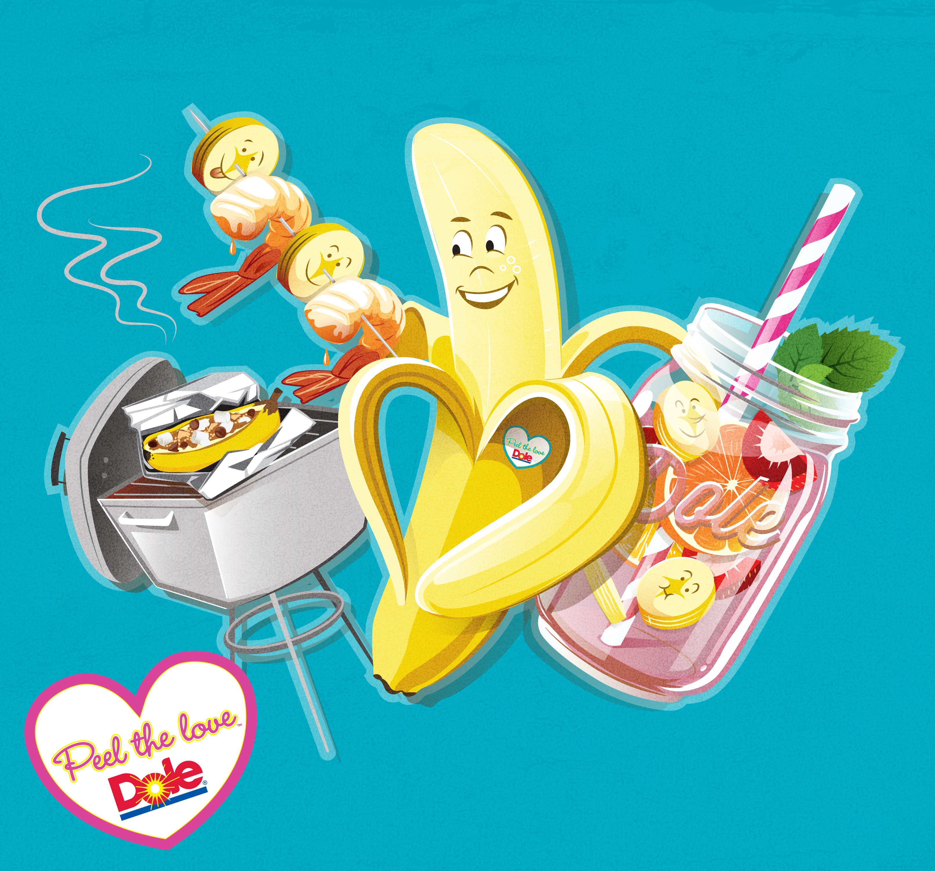 """Dole Will Peel Twice the Love in 2014 with Two """"Banana Cabana"""" Summer Tours (Graphic: Business Wire)"""