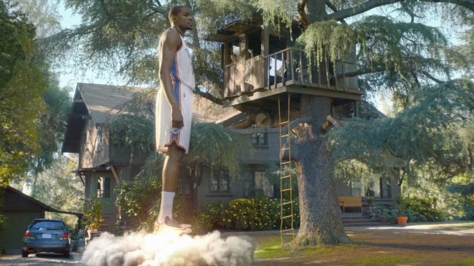 NBA scoring leader Kevin Durant stars in the latest TV ad for Sprint. Photo credit: Sprint.