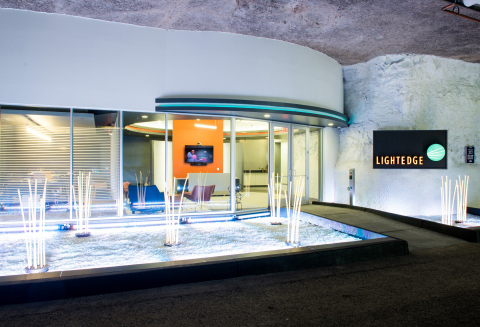 The new LightEdge Solutions data center is located underground within the SubTropolis Technology Cen ...
