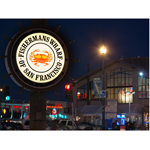 "The Fisherman's Wharf Community Benefit District recently restored San Francisco's cherished ""crab wheel"" sign while saving an estimated 80 percent in lighting energy usage with GE Tetra® PowerStrip LED sign lighting. (Photo: General Electric)"