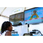 In this photo provided by Nintendo of America, Tayzon P. from Washington visits with Nintendo to play Wii Fit U before heading to the South Lawn for the 136th annual White House Easter Egg Roll on April 21, 2014, in President's Park (one of America's 401 national parks!) Nintendo joined with the National Park Foundation to offer guests the opportunity to check out Wii Fit U and Wii Sports Club, two video games that ask players to get up and get active with Wii U, Nintendo's HD home console. (Photo: Business Wire)