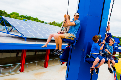 Legoland Florida becomes the first theme park in the U.S. to be completely powered by renewable solar energy on Earth Day, April 22, 2014 to celebrate a new partnership with Florida-based Tampa Electric (TECO). The celebration is part of existing and new conservation initiatives, including installations that will educate park guests about solar energy. (Photo: Business Wire)