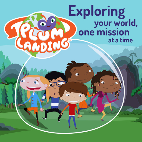 PBS KIDS' all-new web-original property, PLUM LANDING, is a cross-platform, digital adventure designed to engage 6- to 9-year olds in environmental science by using animated and live-action videos, hands-on activities, web games and an interactive mobile app for iPhone, iPad and iPod touch: Plum's Photo Hunt. (Photo: Business Wire)