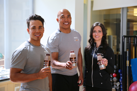 Football legend Hines Ward passes the torch to world-champion speedskater Apolo Ohno and Women's Health Fitness Director Jen Ator to take on a training and recovery journey that's BUILT WITH CHOCOLATE MILK.  Follow along at www.gotchocolatemilk.com.  (Photo: Business Wire)