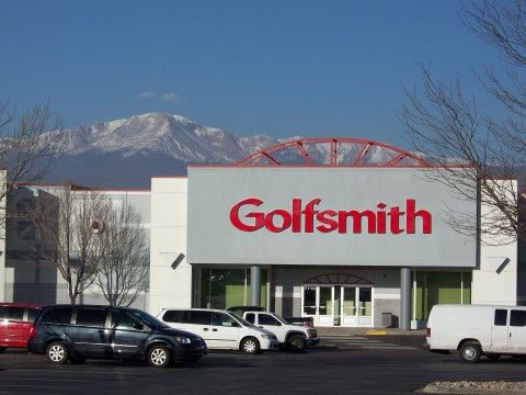 Golfsmith's new store in Colorado Springs, CO - with Pikes Peak in the background. (Photo: Business Wire)