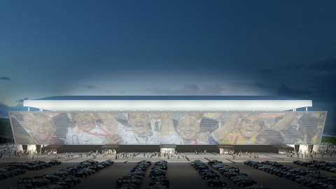 Arena Corinthians' East façade incorporates AGC's CLEARVISION (Credit: Coutinho, Diegues, Cordeiro/D ...
