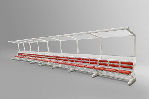 Official Licensed Glass Roof of the 2014 FIFA World Cup (TM) Player Benches (Photo: Business Wire)