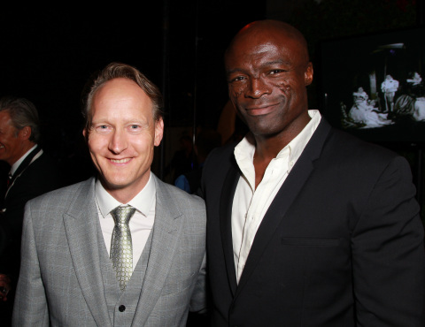 British Consul General Chris O'Connor and Seal attend the 8th Annual BritWeek Launch Party in Los Angeles (Photo: Business Wire)