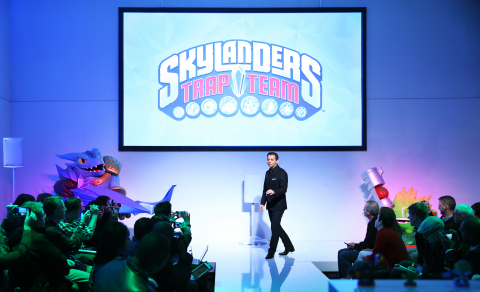 Eric Hirshberg, CEO of Activison Publishing, Inc., reveals the latest innovation to the Skylanders f ...