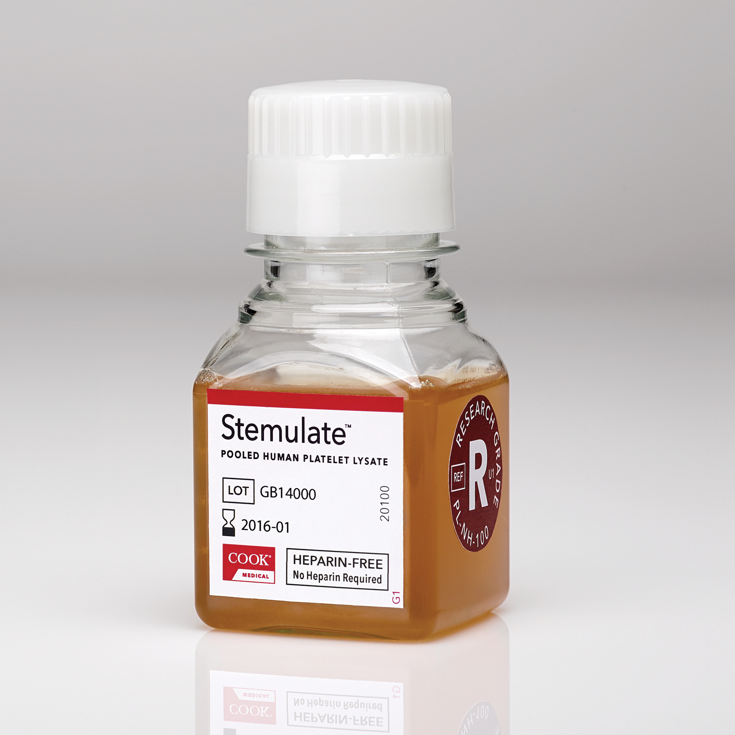 Stemulate(TM) Pooled Human Platelet Lysate cell culture media supplement (Photo: Business Wire)