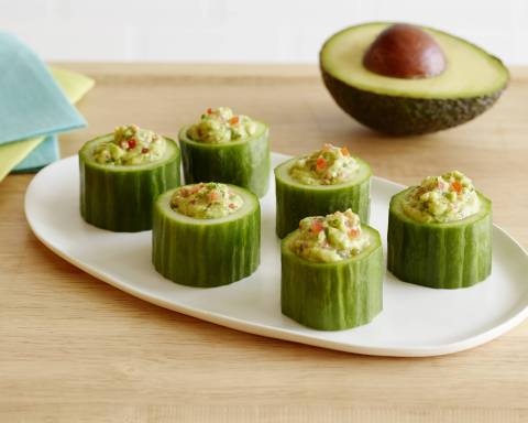 California Avocado Cucumber Cups, created by Katie Ferraro, MPH, RD, CDE for the California Avocado Commission (Photo: Business Wire)
