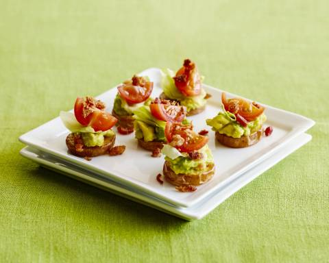 BLT & Avocado Potato Bites, created by Katie Ferraro, MPH, RD, CDE for the California Avocado Commission (Photo: Business Wire)