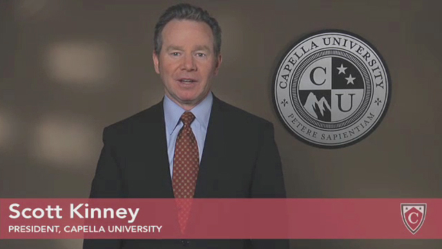 Capella University President Scott Kinney introduces new degree offerings.