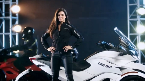 Danica Patrick in a newly released spot introducing Can-Am Spyder as The Ultimate Escape Vehicle. (Photo: Business Wire)