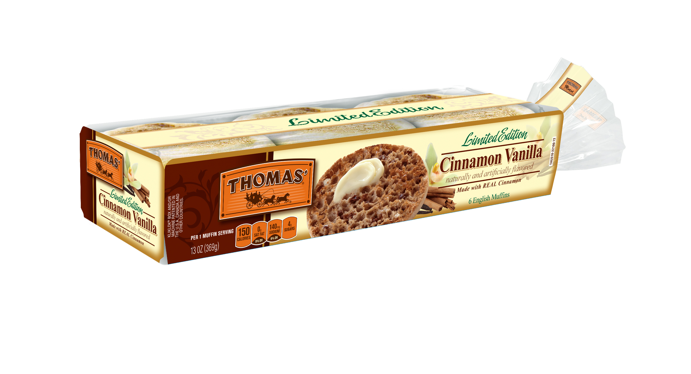 Thomas' is introducing its flavor of the year: Cinnamon Vanilla English Muffins (Photo: Business Wire)