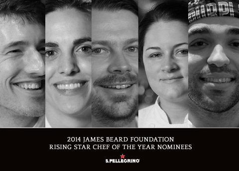 As a proud sponsor of the 2014 James Beard Foundation Rising Star Chef of the Year Award, S.Pellegrino congratulates all of the finalists. Visit YouTube.com/SanPellegrinoTV to see an exclusive video series profiling the unique stories of the chefs, including Blaine Wetzel, Katie Button, David Posey, Jessica Largey, and Jimmy Bannos Jr. (Photo: Business Wire)