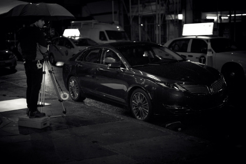 """Director Duncan Wolfe helped close this year's Tribeca Film Festival when his new short film """"Alethea"""" was shown Sunday night at an event sponsored by The Lincoln Motor Company, signature sponsor of the festival. Featured in the film was the Lincoln MKZ midsize premium sedan. (Photo: Business Wire)"""