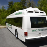 The Future of Transit: Offering six times the fuel economy of diesel, Proterra's all-electric bus recently set a record for the most miles driven in a day by an EV transit bus. (Photo: Business Wire)