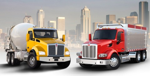 New Kenworth T880 and Peterbilt Model 567 (Photo: Business Wire)