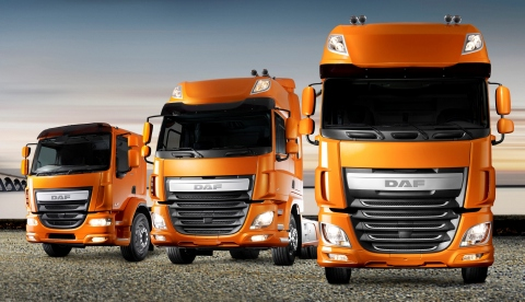 New DAF LF, CF and XF Euro 6 Models (Photo: Business Wire)