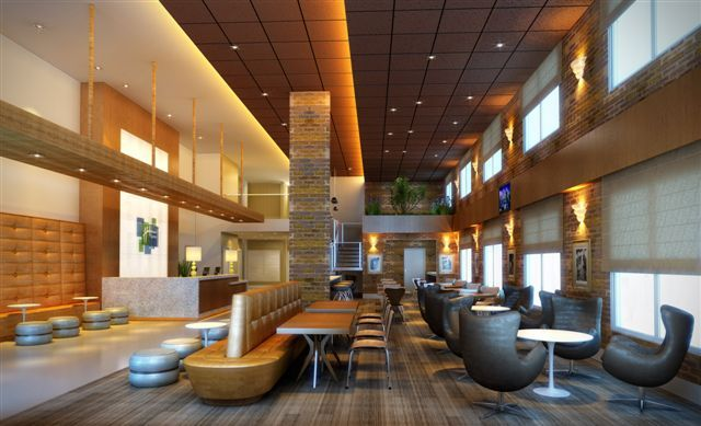 IHG opens the new-build, 110-room Holiday Inn Express® Rio Branco hotel, which marks the 15th IHG®-branded hotel in Brazil and first for Rio Branco (Rendering).(Photo: Business Wire)