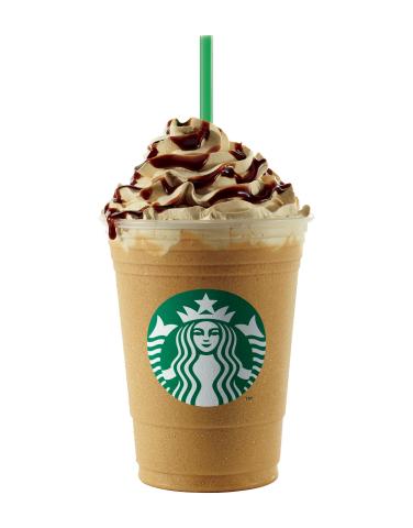 Caffe Espresso Frappuccino(R) blended beverage, a classic combination of Starbucks(R) signature Frap ...