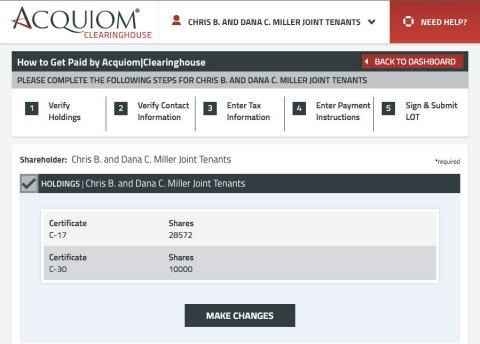 SRS|Acquiom Announces Revolutionary Online M&A Payments Service - Acquiom|Clearinghouse(TM) (Graphic: Business Wire)